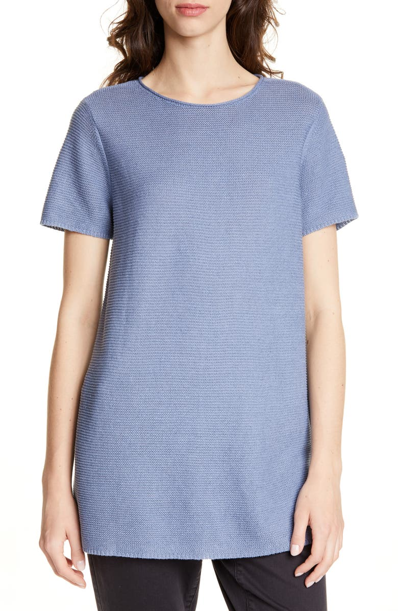 EILEEN FISHER Organic Linen & Cotton Tunic, Main, color, CHAMBRAY