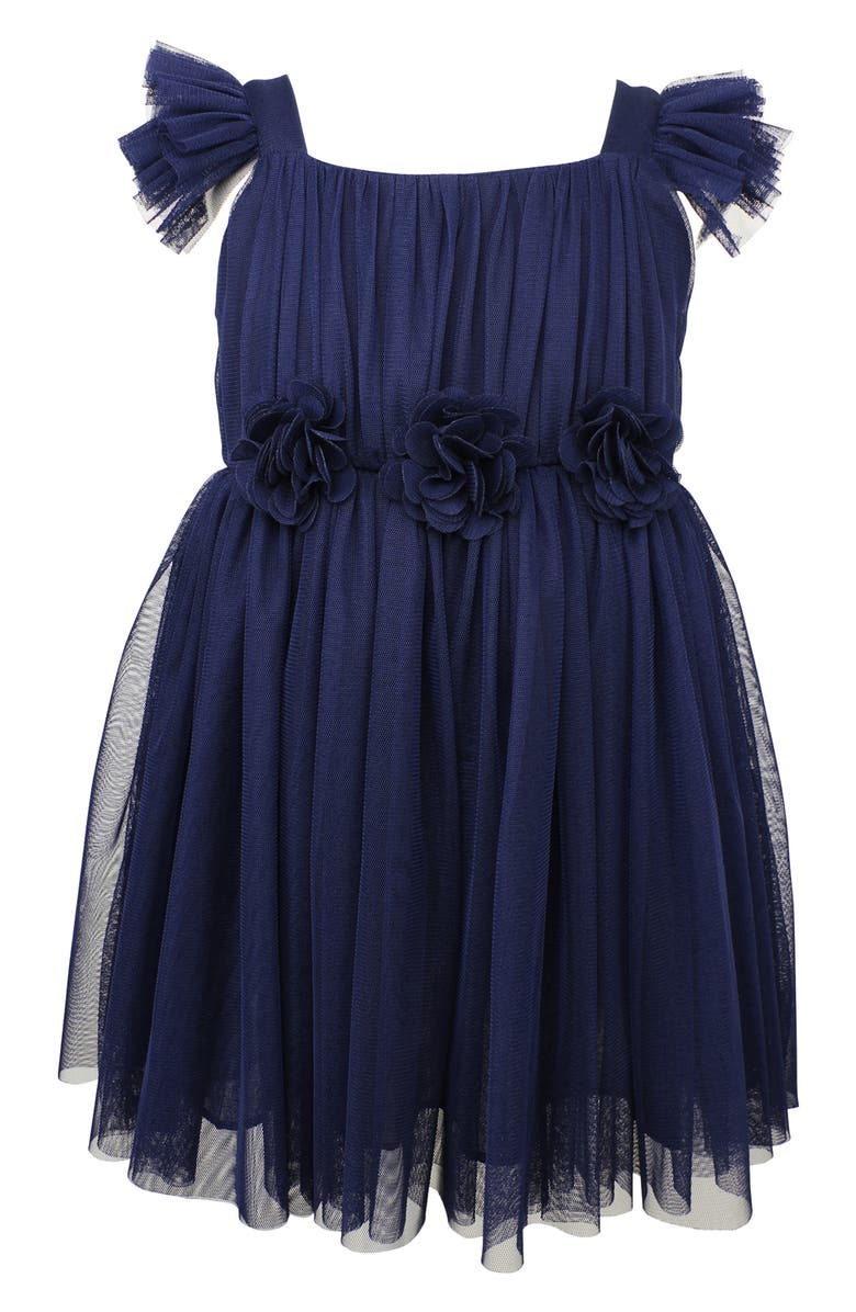 POPATU Flutter Sleeve Princess Dress, Main, color, NAVY