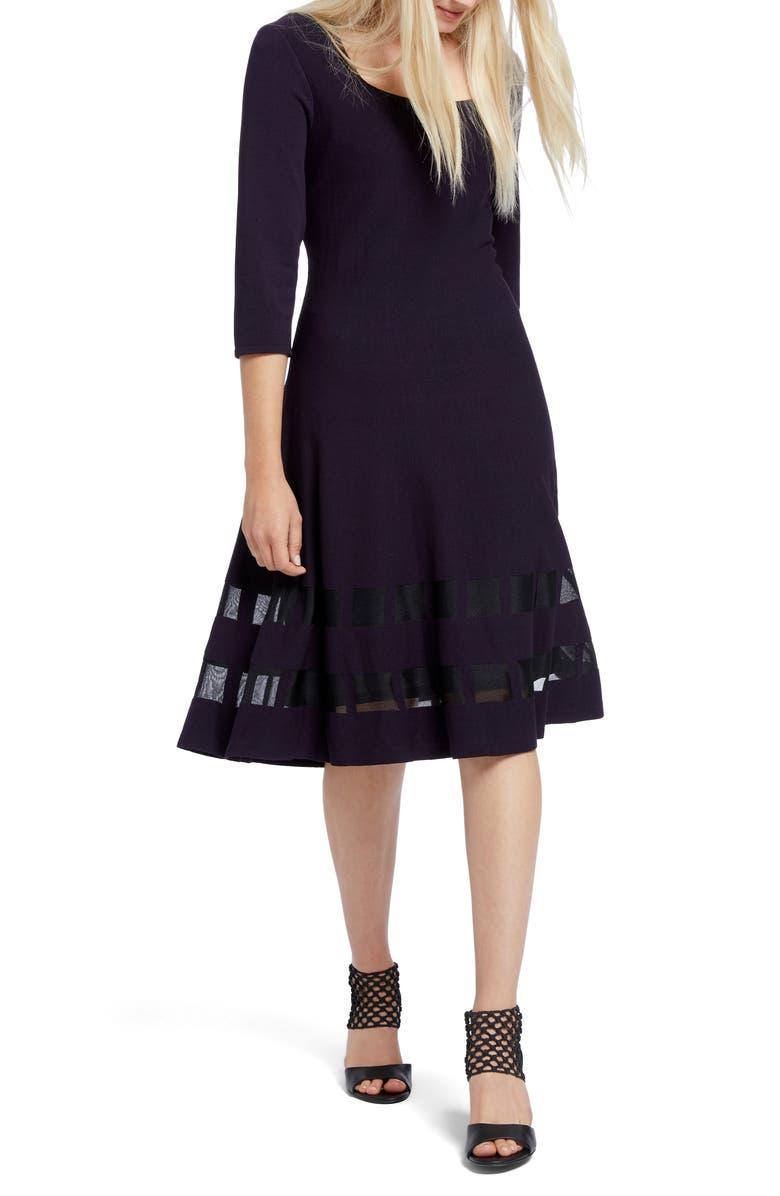 NIC+ZOE Charming Twirl Taffeta Inset Dress, Main, color, 510