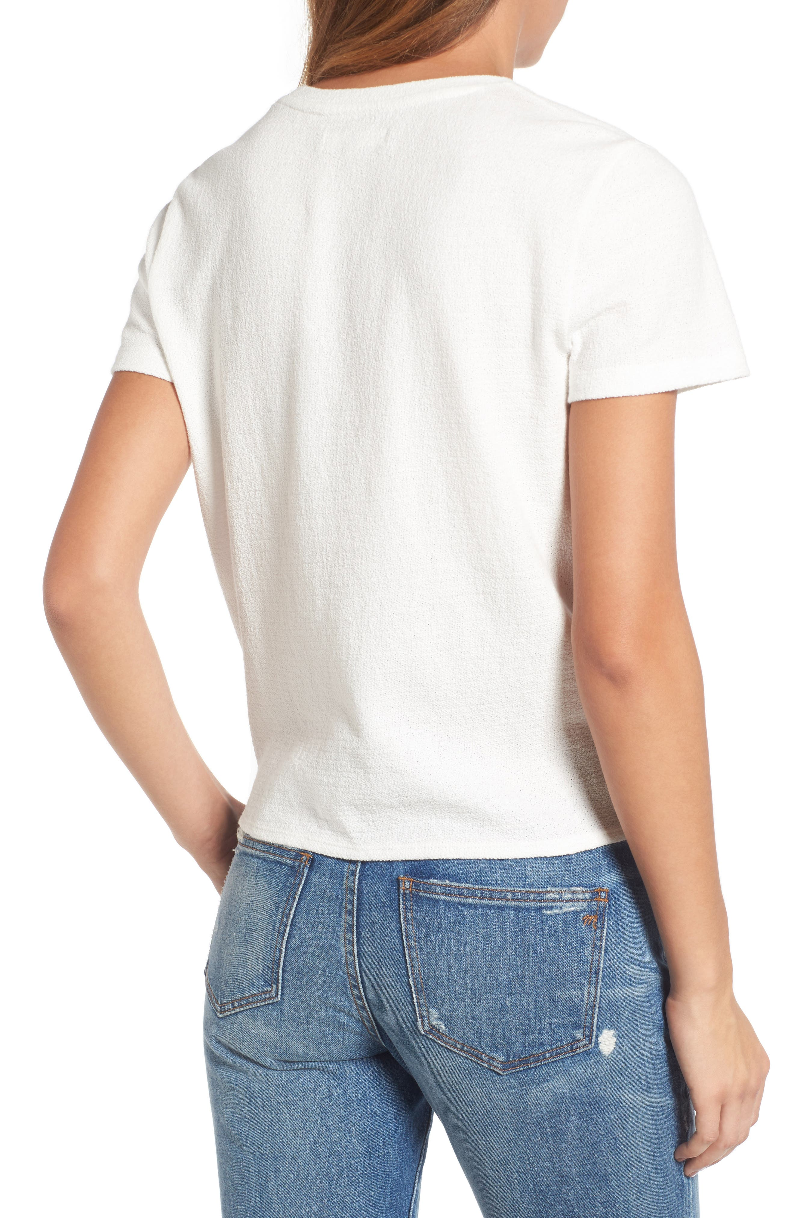 ,                             Modern Tie Front Tee,                             Alternate thumbnail 31, color,                             900