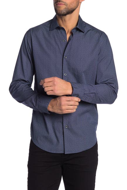 Image of ROBERT BARAKETT Philips Long Sleeve Button Front Shirt