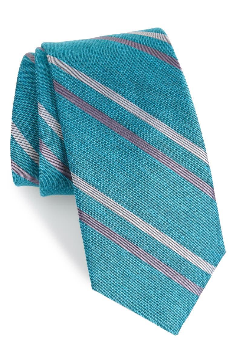 THE TIE BAR Pep Stripe Tie, Main, color, 440