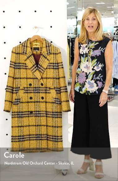 Longline Plaid Coat, sales video thumbnail