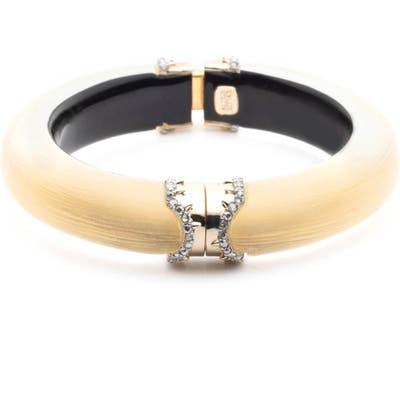 Alex Bittar Lucite Pave Edge Hinge Bracelet
