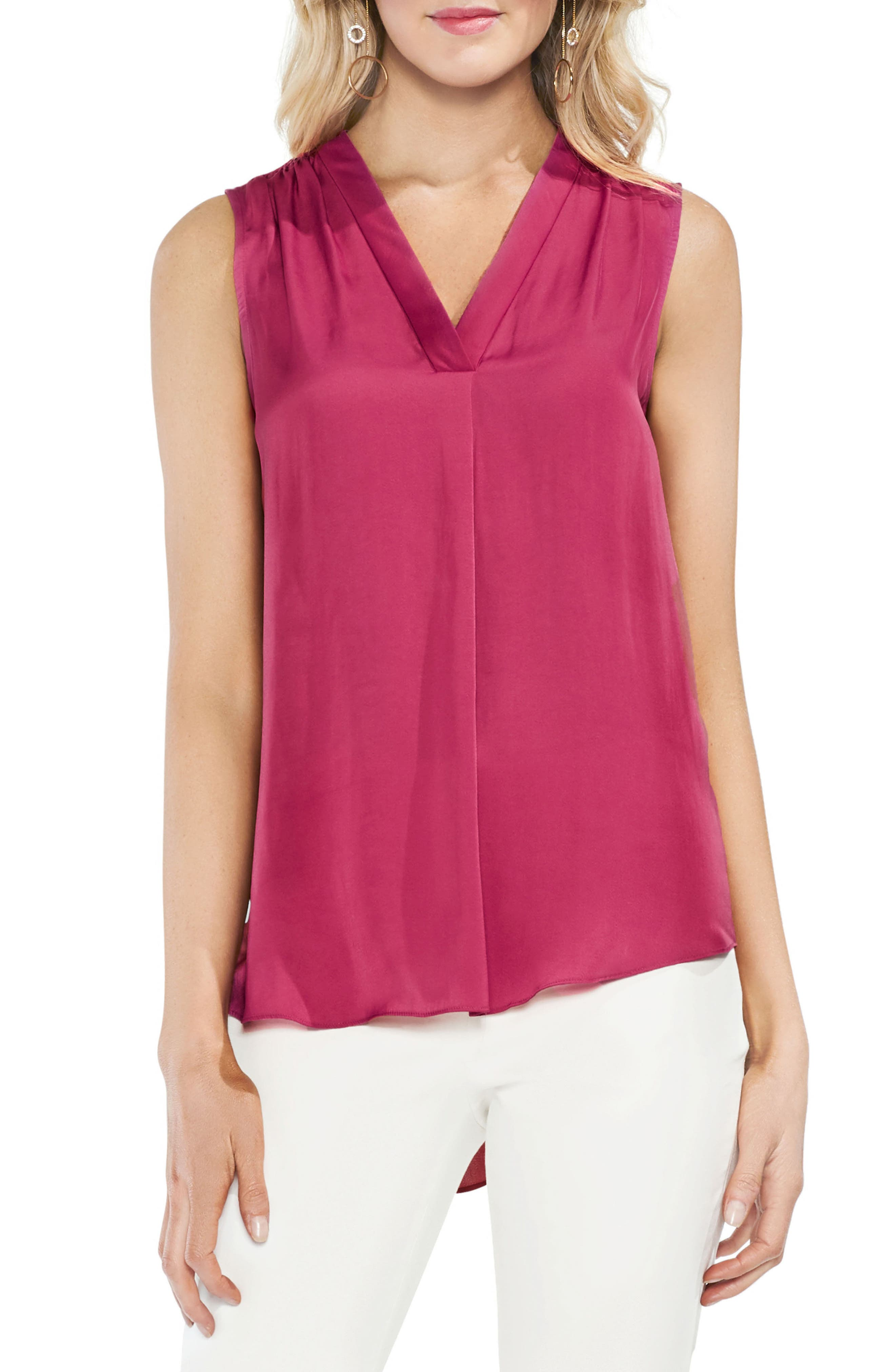 ,                             Rumpled Satin Blouse,                             Main thumbnail 233, color,                             654
