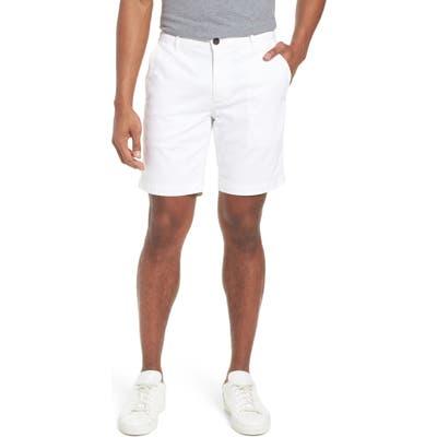 Ag Wanderer Modern Slim Fit Print Twill Shorts, White