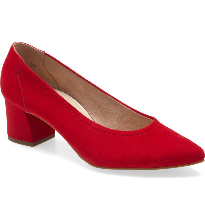 PAUL GREEN Tammy Pump, Main, color, RED SUEDE