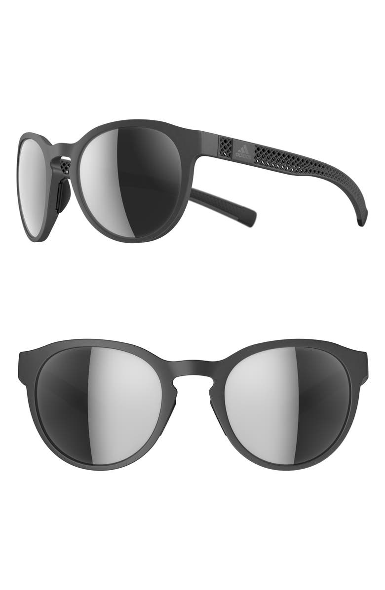 ADIDAS Proshift 3DX Mirrored Sunglasses, Main, color, GREY/ CHROME