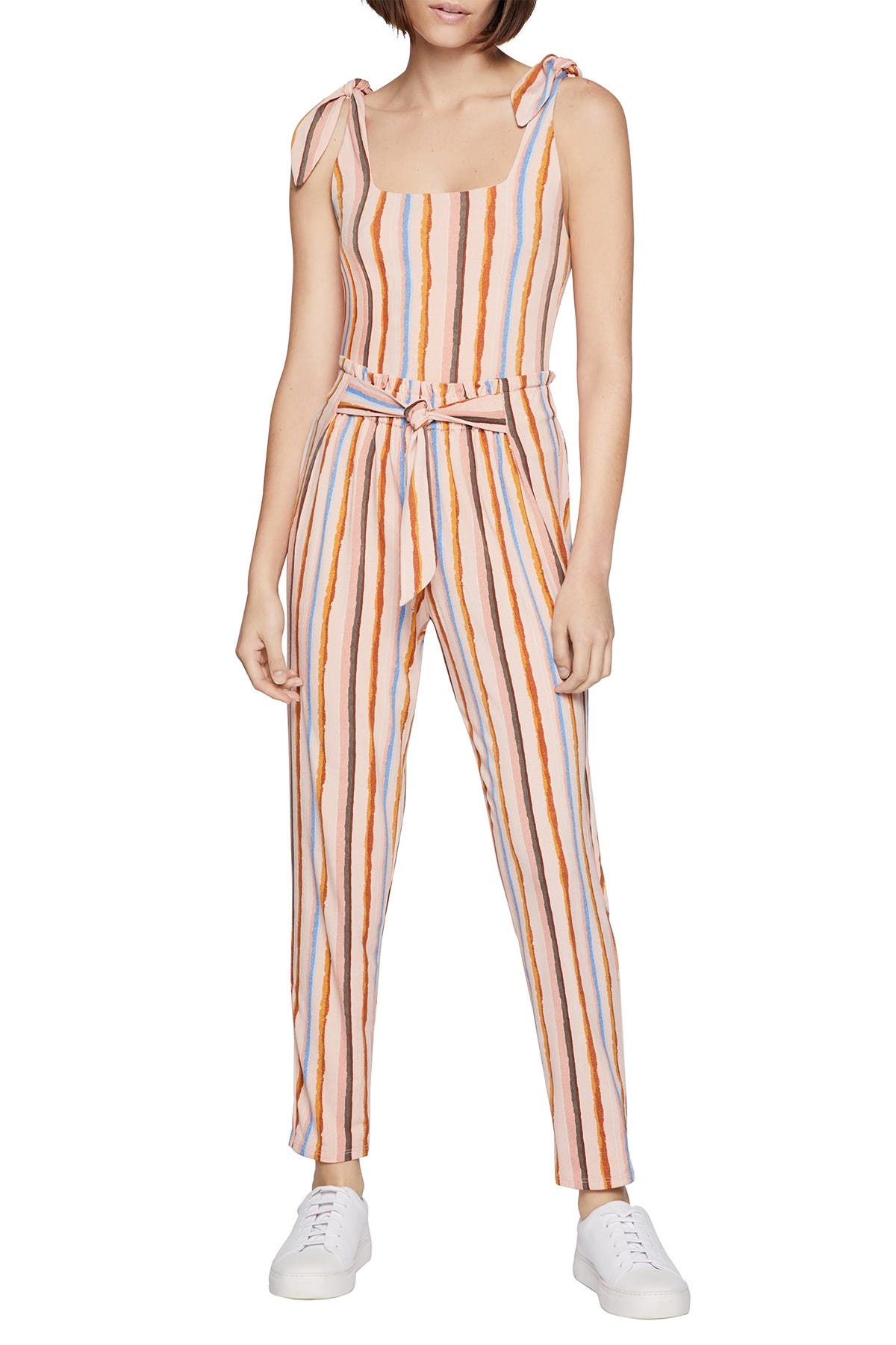 Image of BCBGeneration Stripe Paperbag Waist Pants