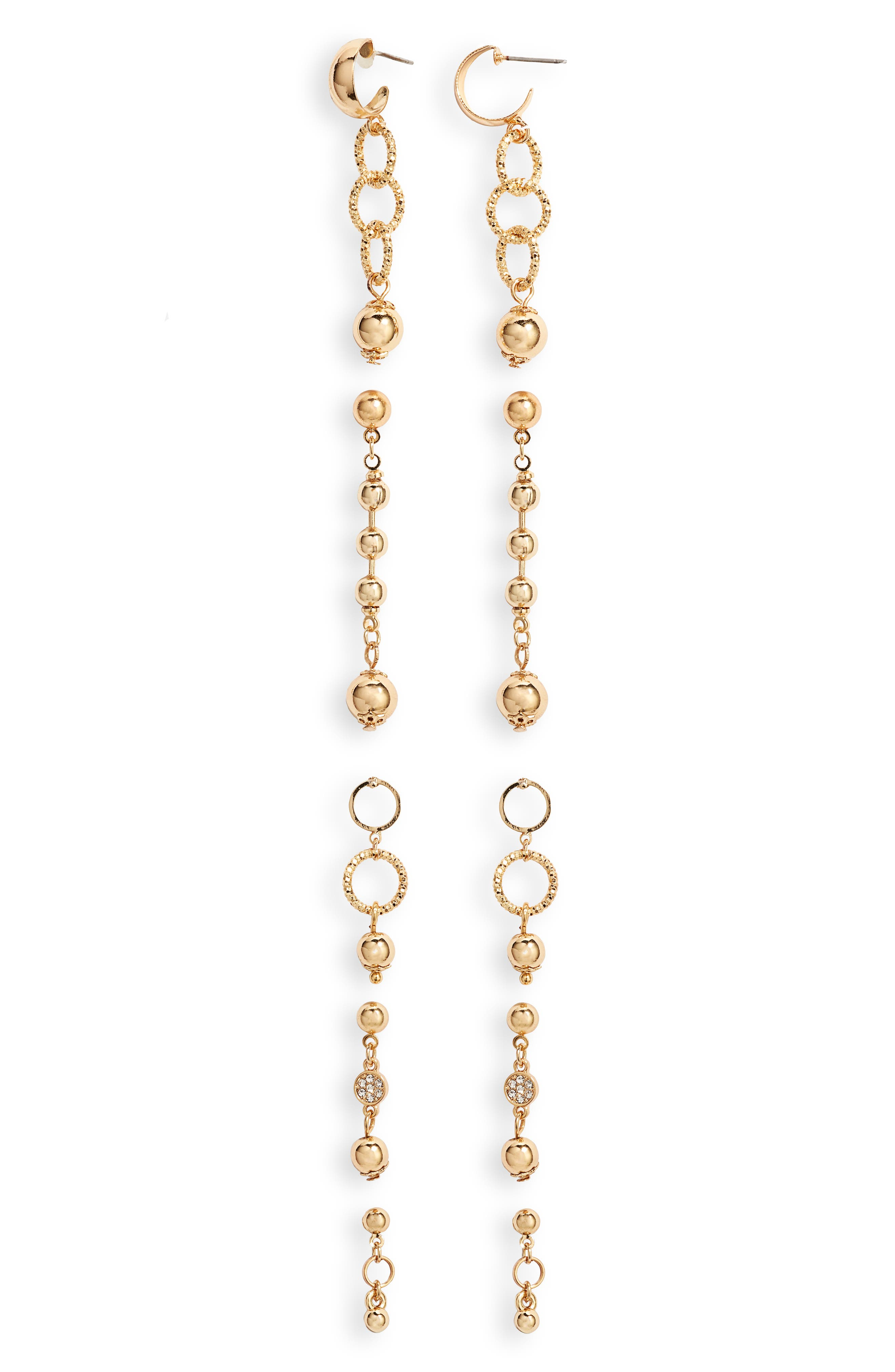 Elevate any look with this five-pack of dainty drop earrings in various styles and lengths. Style Name: Ettika Set Of 5 Drop Earrings. Style Number: 5810370. Available in stores.