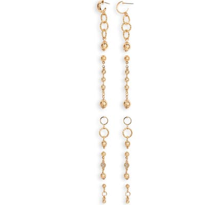 Ettika Set Of 5 Drop Earrings