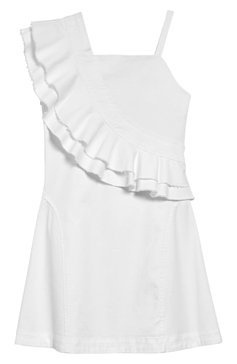 HABITUAL Catrina Ruffle Dress, Main, color, WHITE