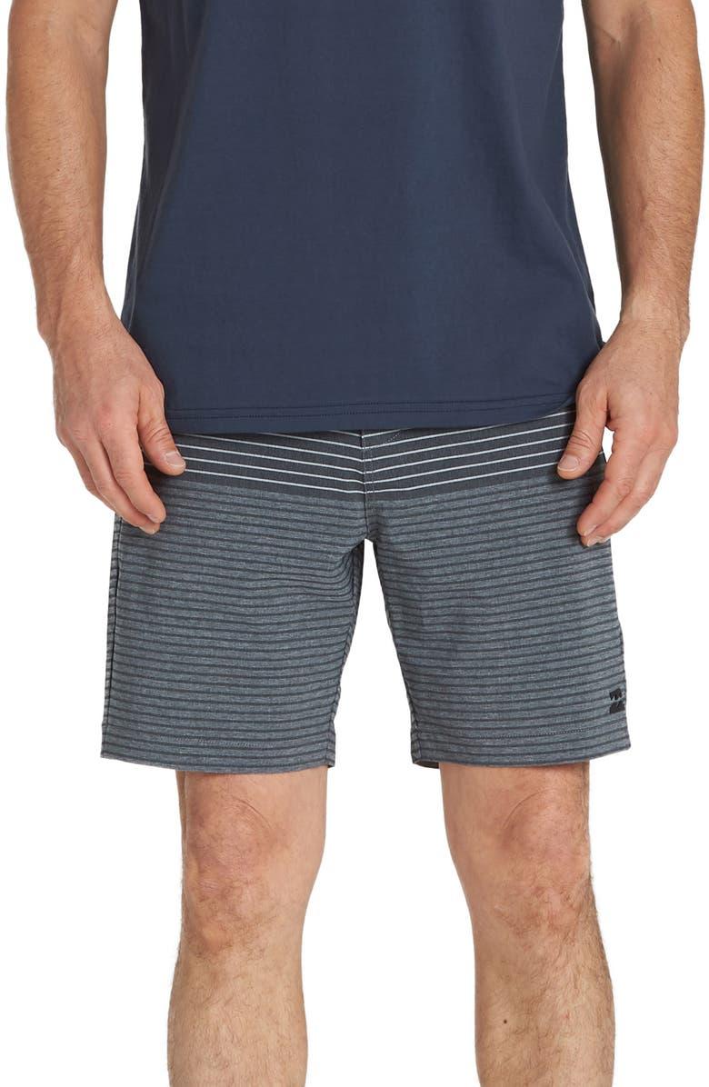 BILLABONG Crossfire X Stripe Shorts, Main, color, CHARCOAL