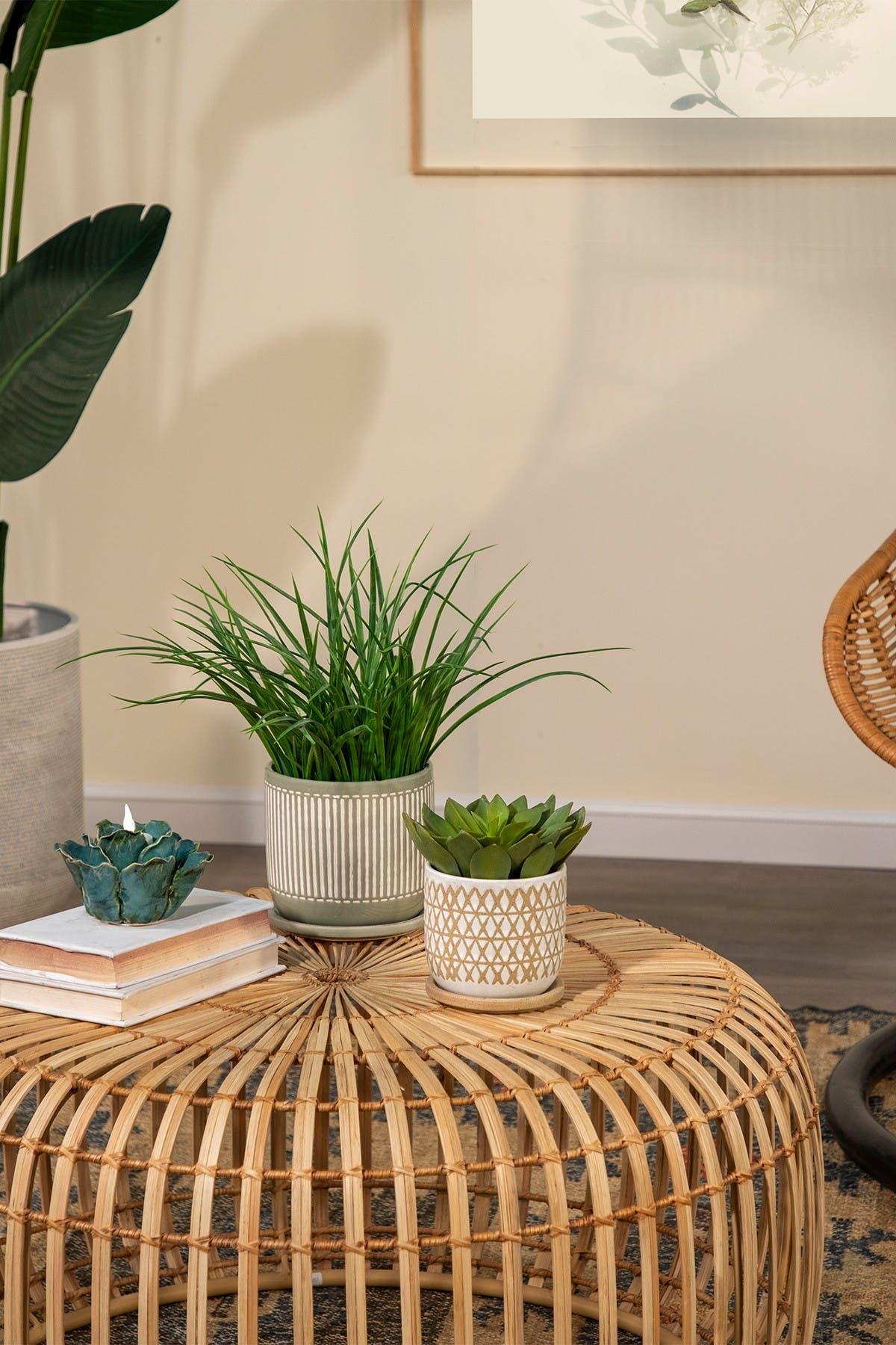 Sagebrook Home Sand Ceramic 5 Saucer Planter Hautelook