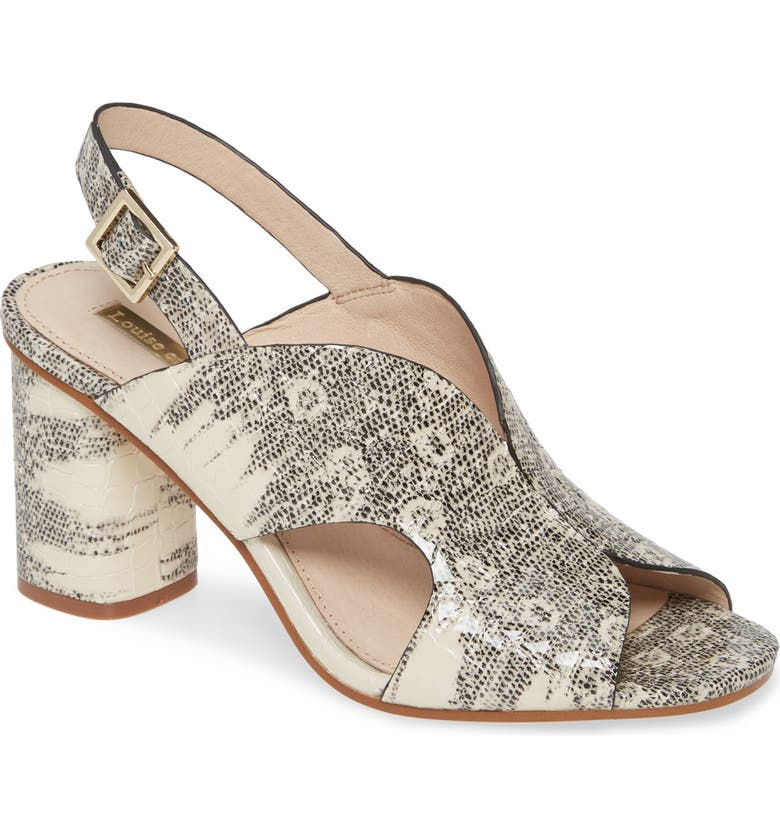 LOUISE ET CIE Kamber Sandal, Main, color, SNAKE PRINT LEATHER