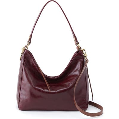 Hobo Delilah Convertible Leather Hobo Bag - Purple