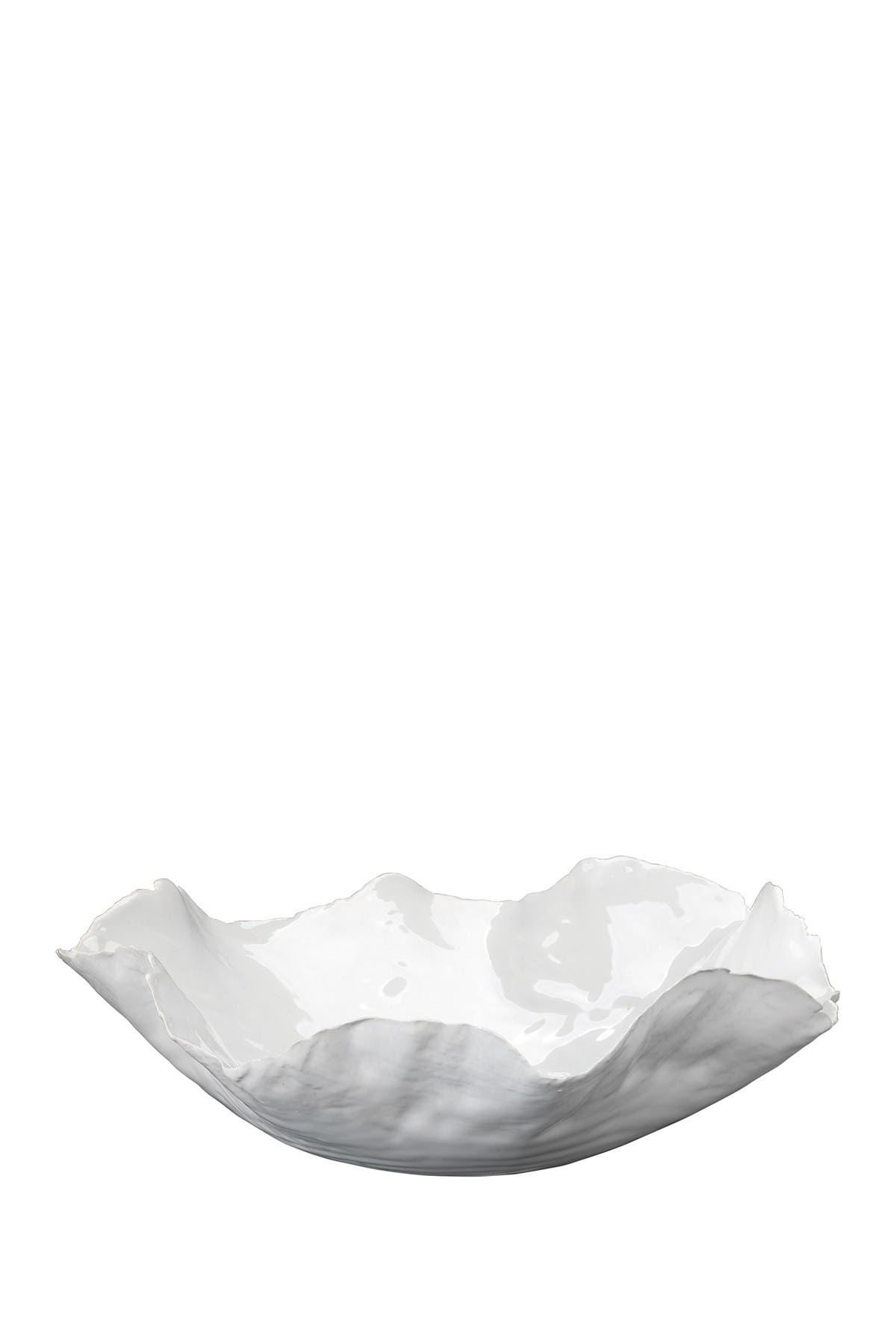 Image of Shine Studio Large Peony Bowl - White Ceramic