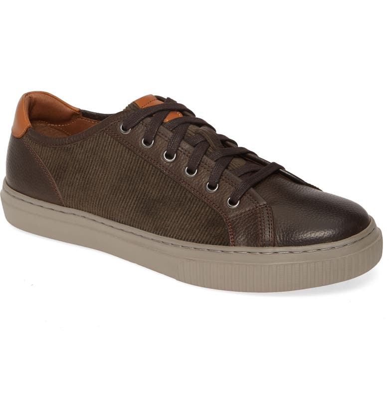 JOHNSTON & MURPHY J&M 1850 Toliver Low Top Sneaker, Main, color, BROWN