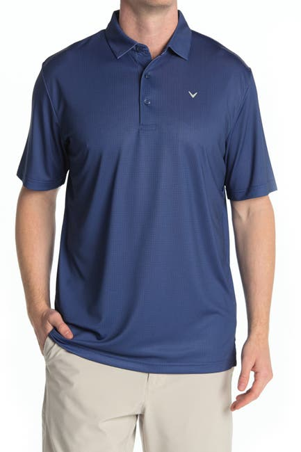 Image of CALLAWAY GOLF Gingham Print Golf Polo