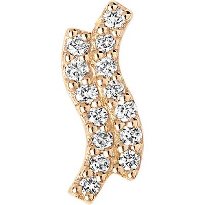 Maria Black Double Diamond Single Stud Earring