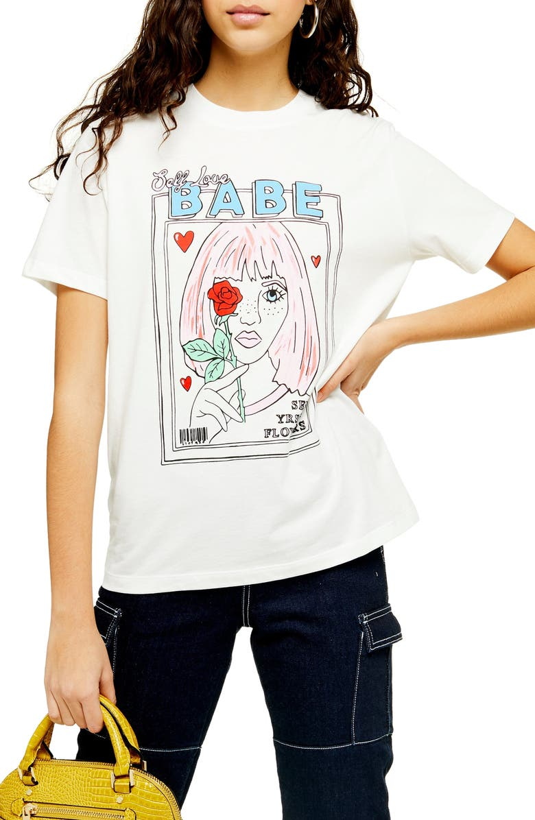 TOPSHOP By Tee & Cake Magazine Girl Tee, Main, color, 900