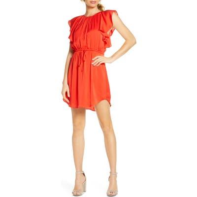 Nsr Ruffled Minidress, Coral