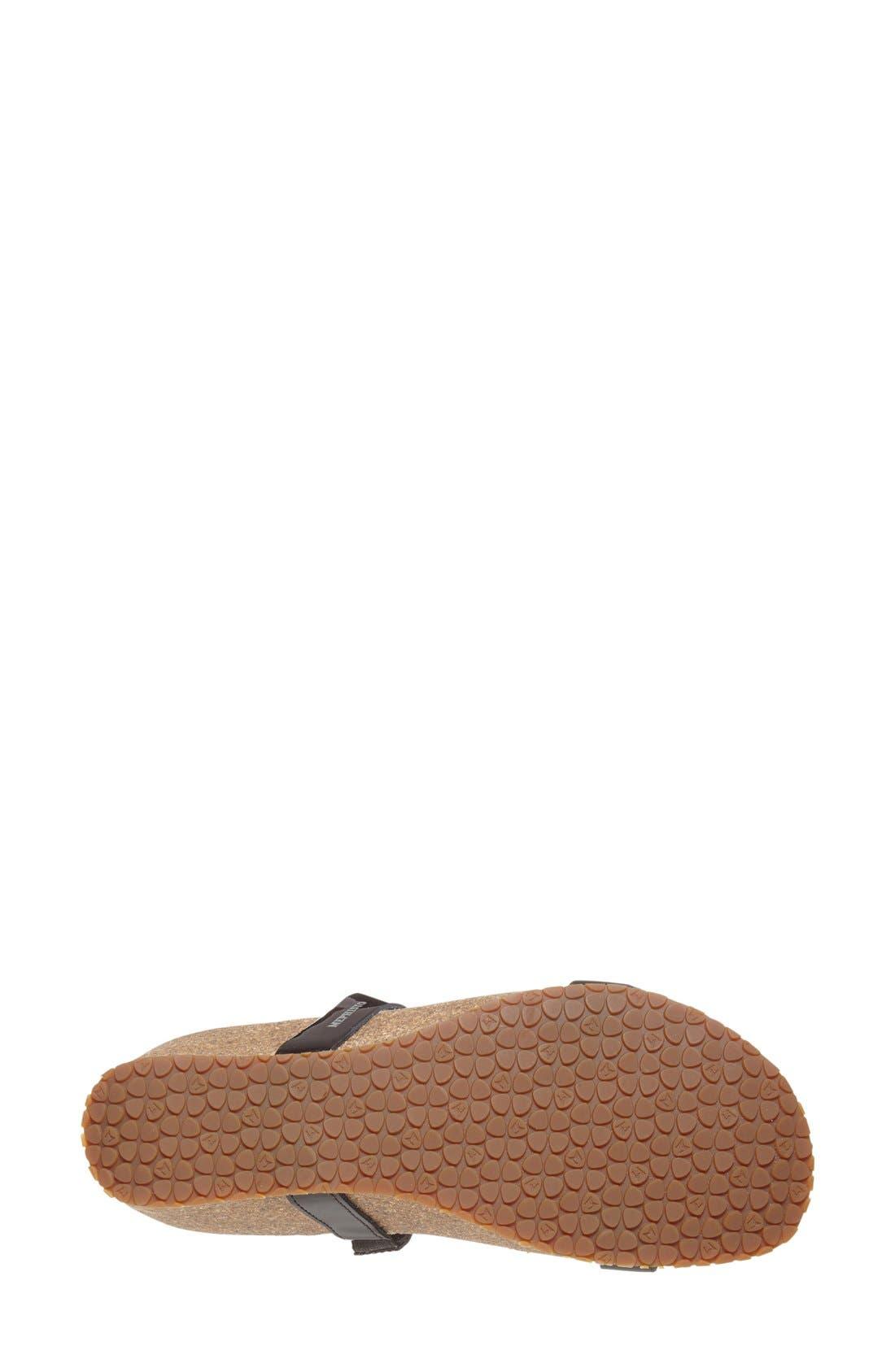 ,                             'Ivana' Crystal Embellished Slide Sandal,                             Alternate thumbnail 4, color,                             BLACK PATENT