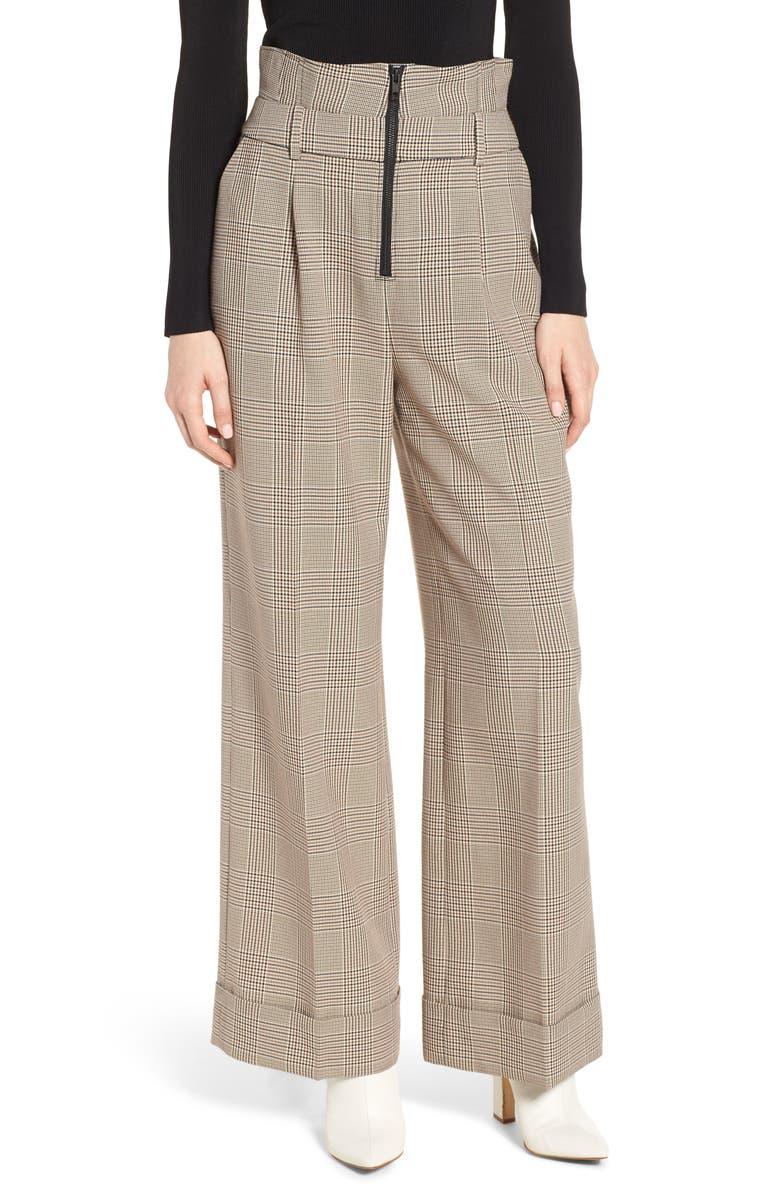 TROUVÉ High Waist Wide Leg Trousers, Main, color, 250