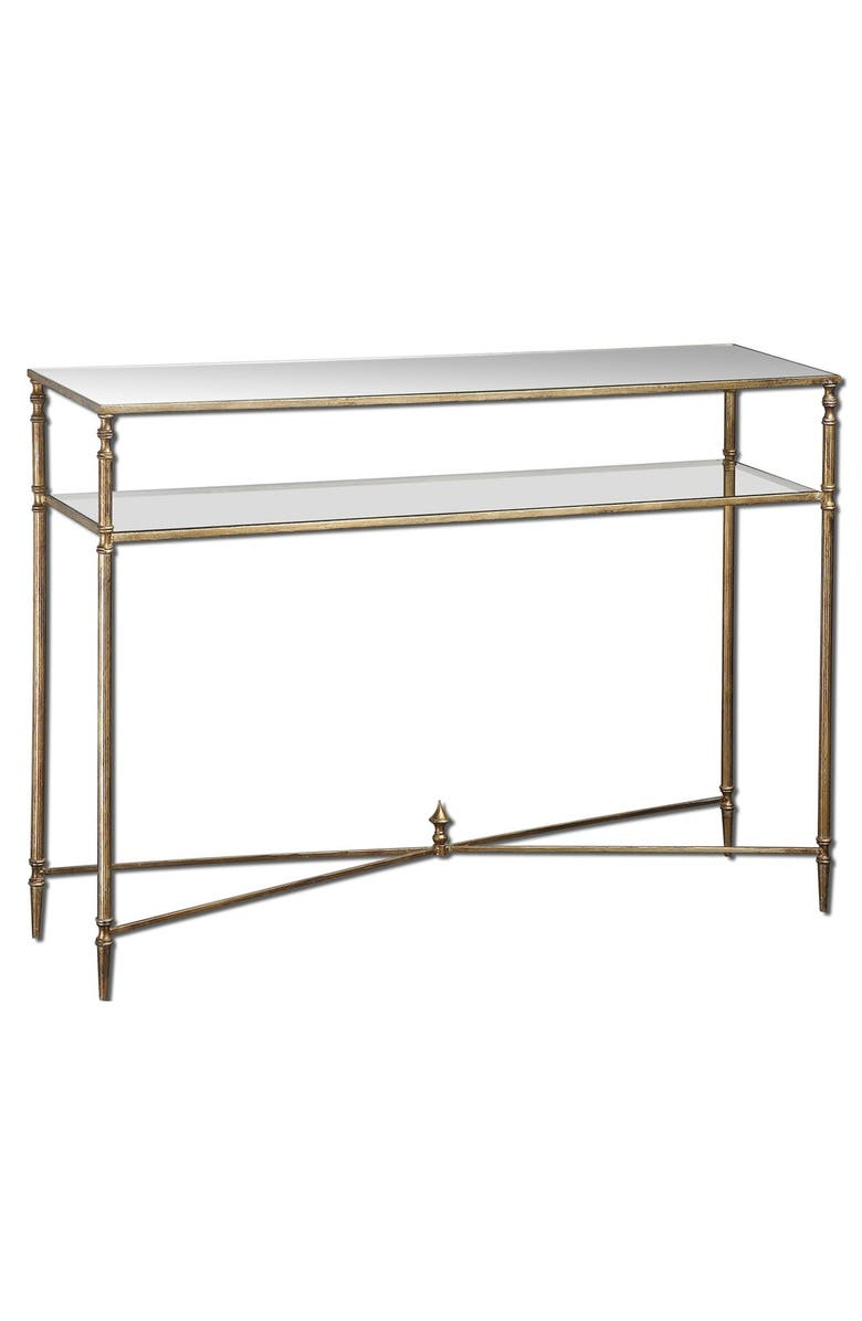 UTTERMOST 'Henzler' Mirrored Console Table, Main, color, GOLD