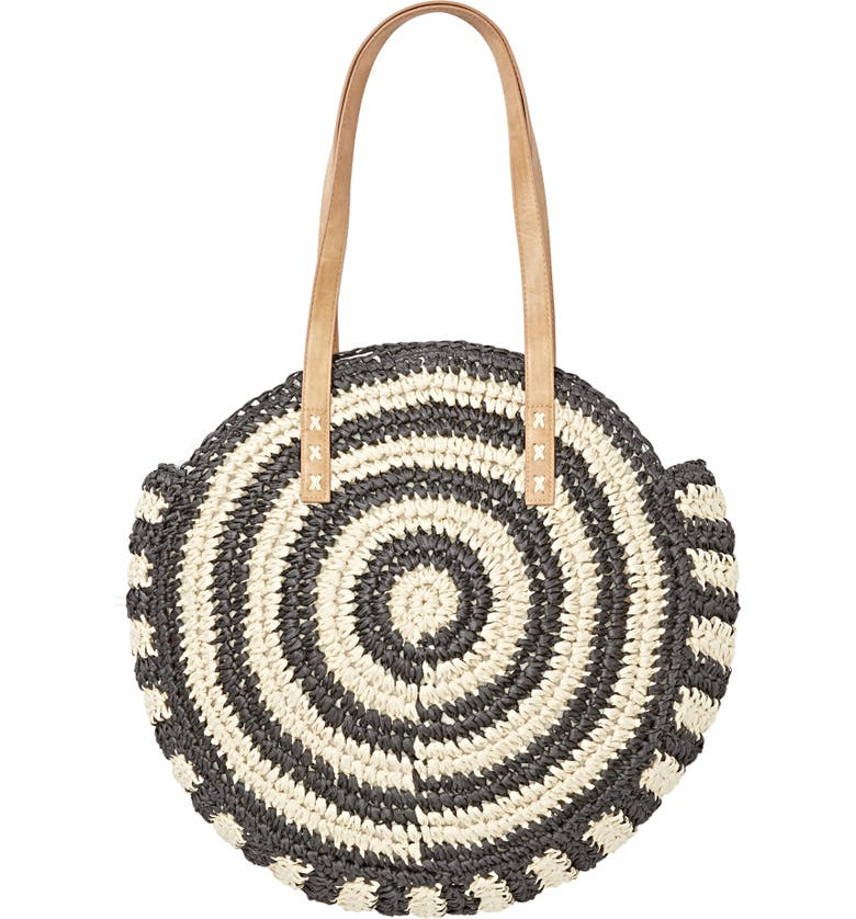 BILLABONG Round About Woven Tote, Main, color, BLACK