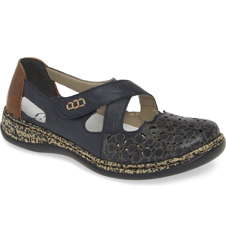 RIEKER ANTISTRESS Daisy H4 Flat, Main, color, PACIFIC LEATHER