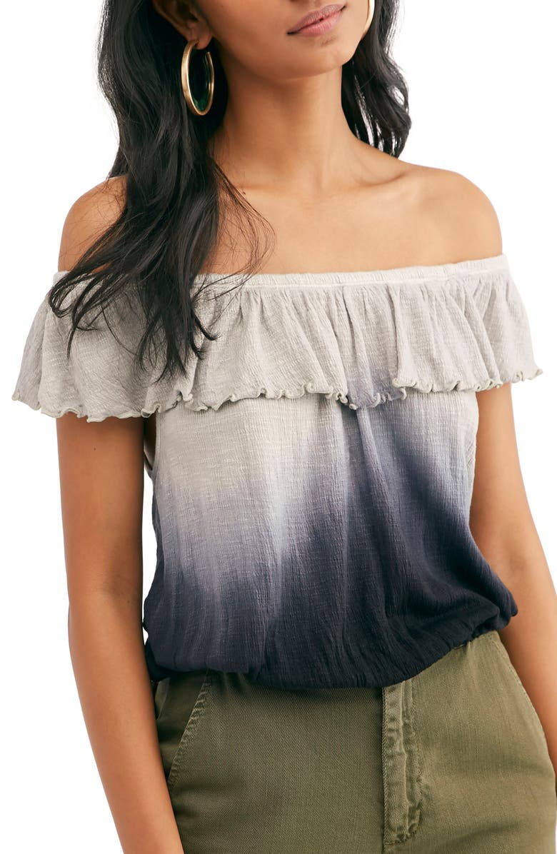 FREE PEOPLE Cora Lee Off the Shoulder Top, Main, color, 001