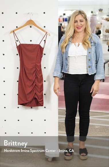 Anika Ruched Side Strappy Minidress, sales video thumbnail