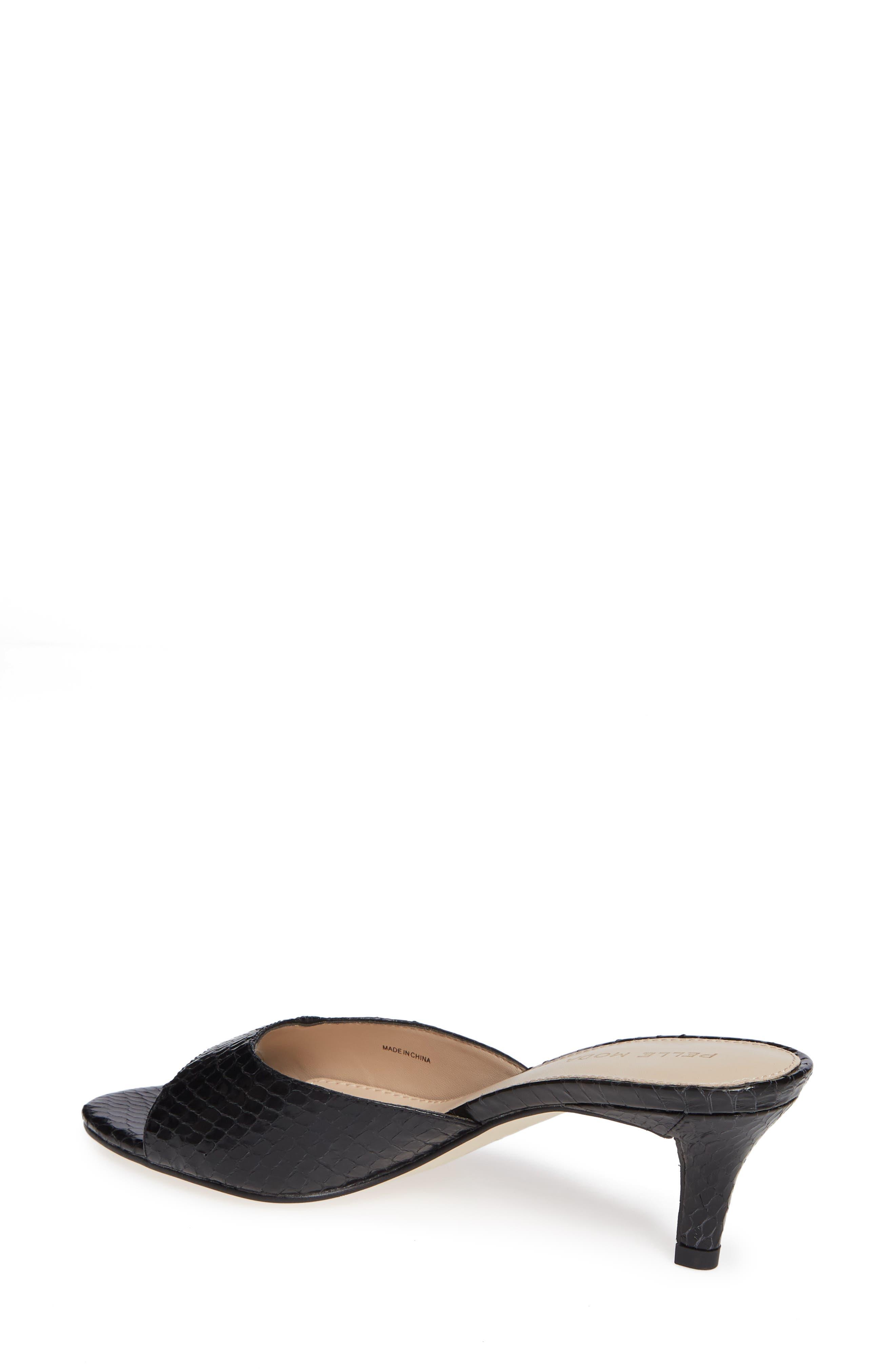,                             Bex Kitten Heel Slide Sandal,                             Alternate thumbnail 2, color,                             BLACK PRINT LEATHER