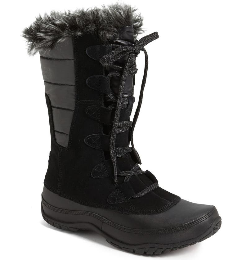 THE NORTH FACE 'Nuptse Purna' Waterproof PrimaLoft<sup>®</sup> Eco Insulated Winter Boot, Main, color, 001