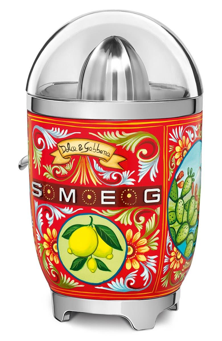 SMEG x Dolce&Gabbana Sicily Is My Love Citrus Juicer, Main, color, DG