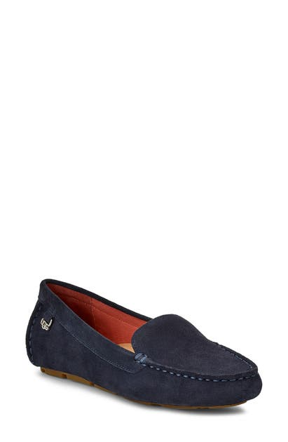 a4ea4cd10c2 Ugg Flores Driving Loafer in True Navy Suede