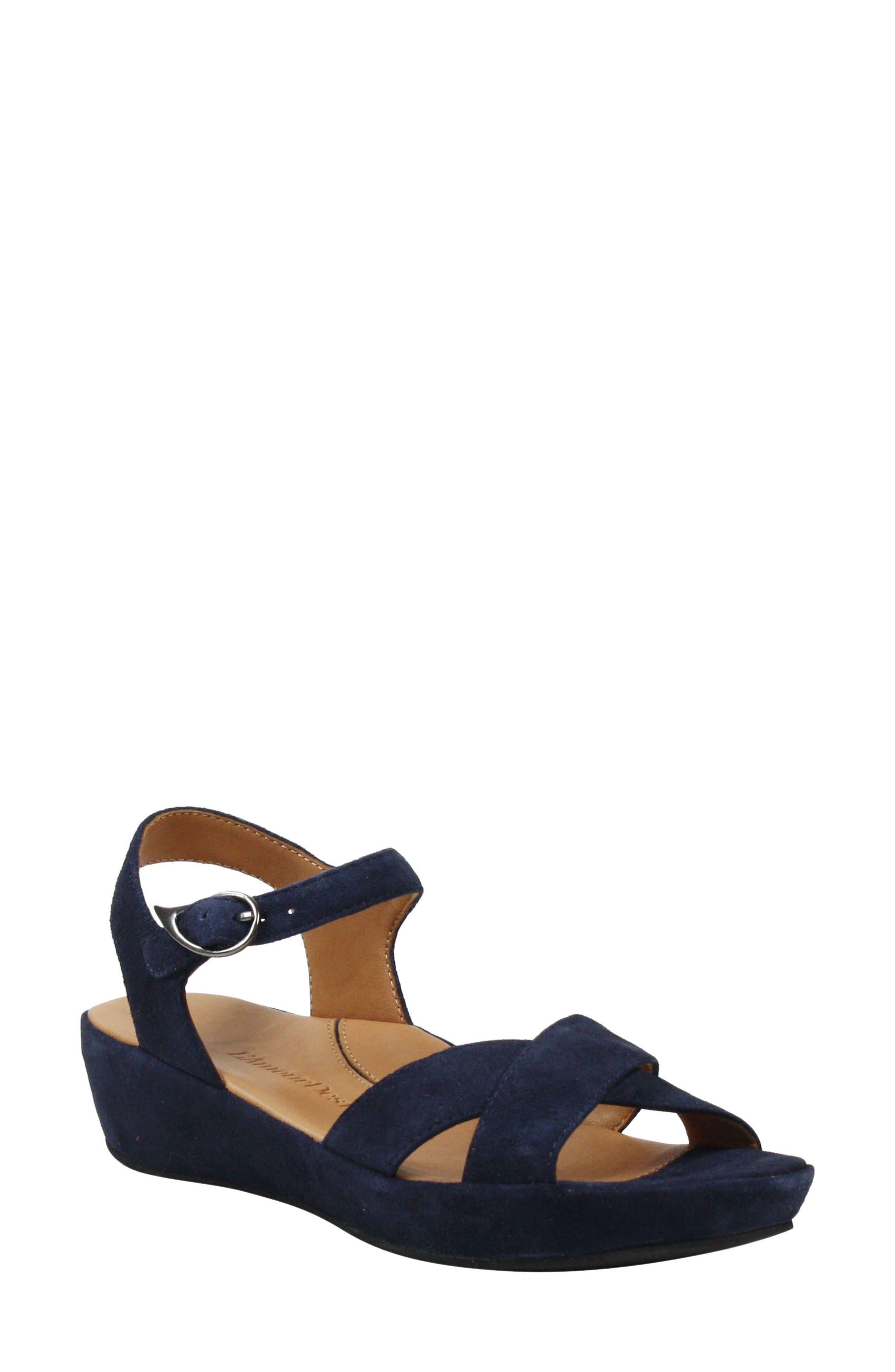 1940s Style Shoes, 40s Shoes Womens LAmour Des Pieds Casimiro Sandal Size 11 M - Blue $188.95 AT vintagedancer.com