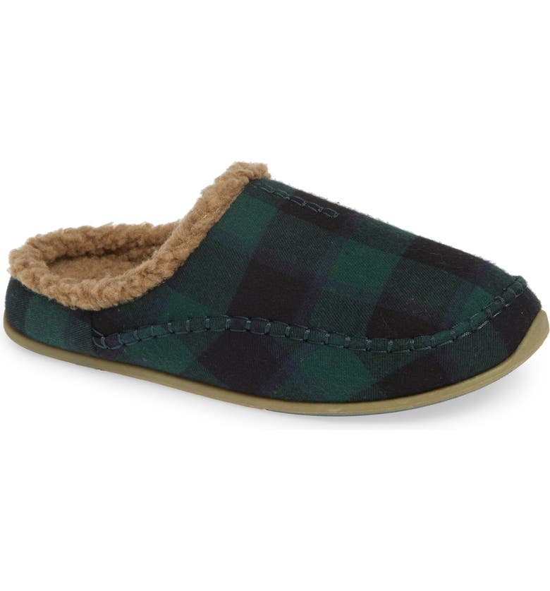 DEER STAGS Nordic Slipper, Main, color, DARK GREEN / BLACK
