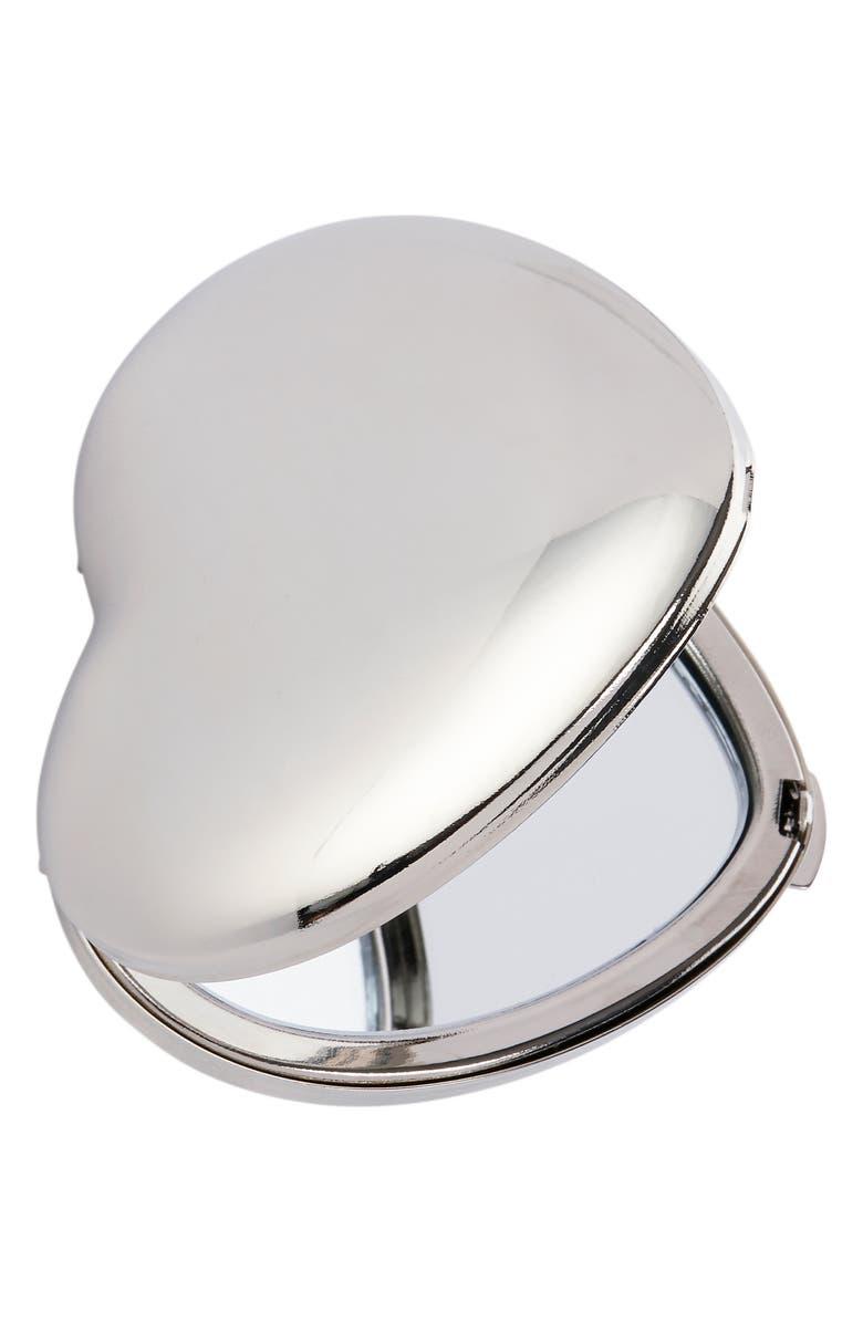 THE WHITE COMPANY Silver Heart Compact, Main, color, SILVER