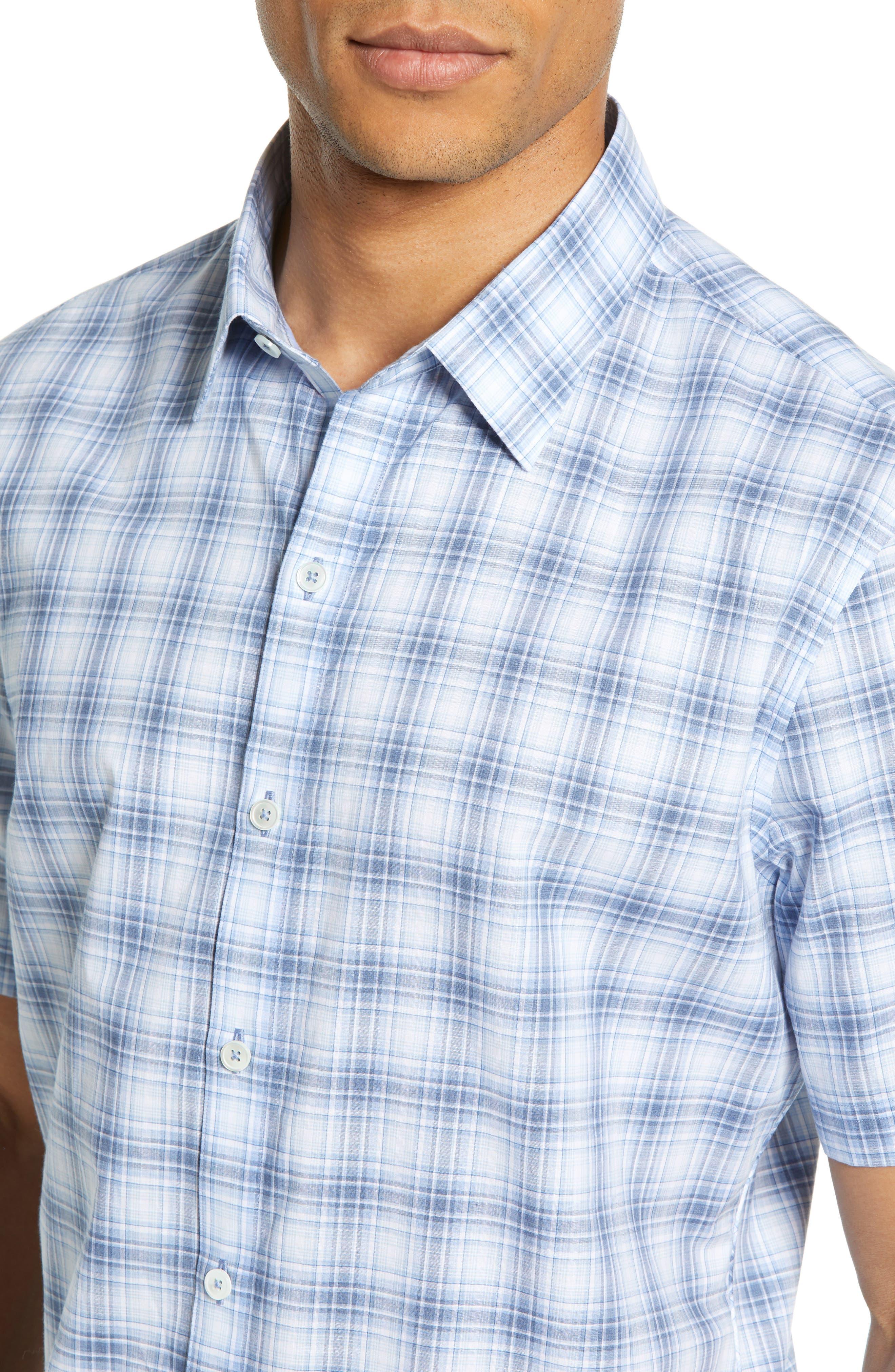 ,                             Bianco Regular Fit Plaid Sport Shirt,                             Alternate thumbnail 2, color,                             LIGHT BLUE