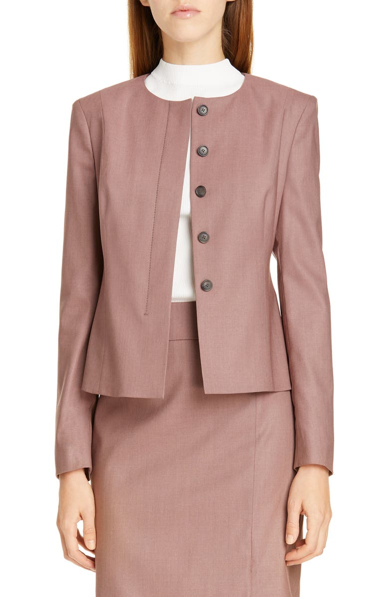 BOSS Javilla Wool Suit Jacket, Main, color, SOFT LAVENDAR