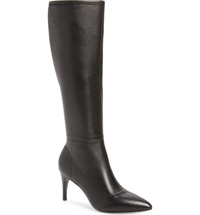 CHARLES DAVID Phenom Knee High Boot, Main, color, BLACK LEATHER