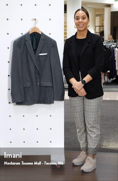 Trim Fit Check Wool Sport Coat, sales video thumbnail