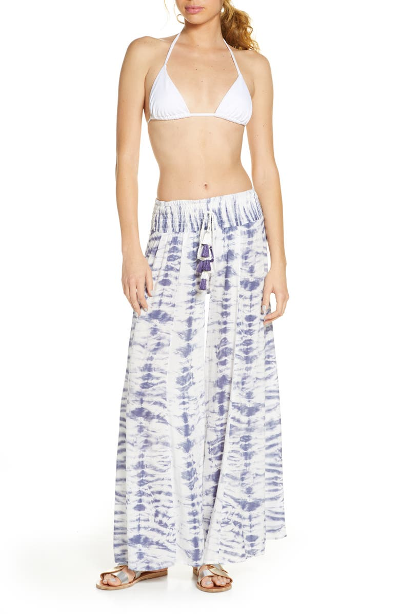 SURF GYPSY Wide Leg Cover-Up Pants, Main, color, DUSTY LILAC