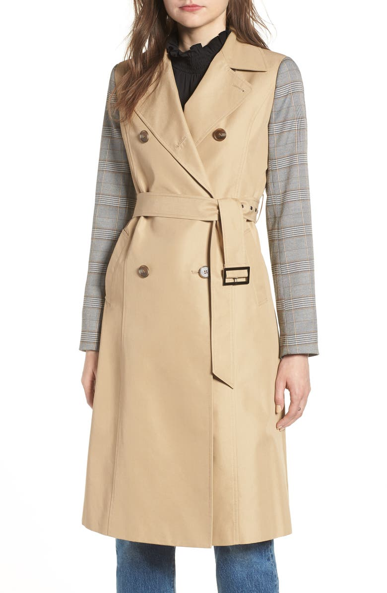 MURAL Belted Trench, Main, color, 200