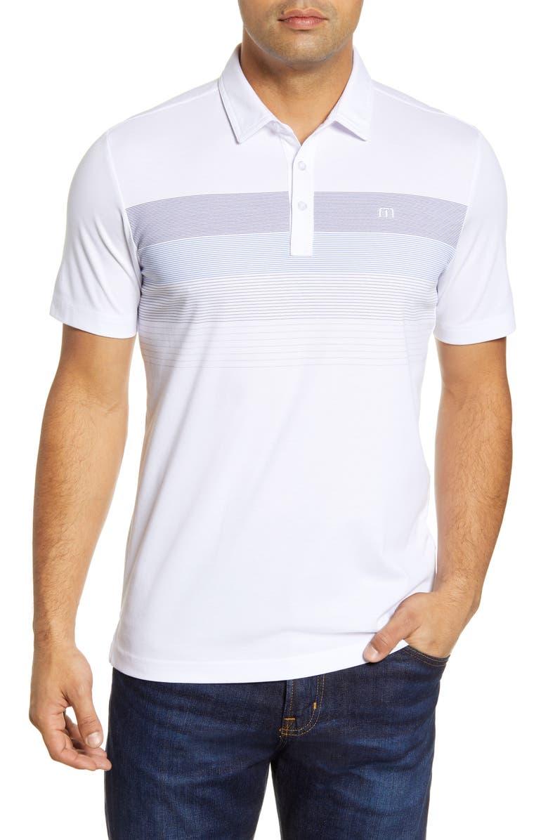 TRAVISMATHEW Regular Fit Two Min Drill Piqué Polo, Main, color, WHITE