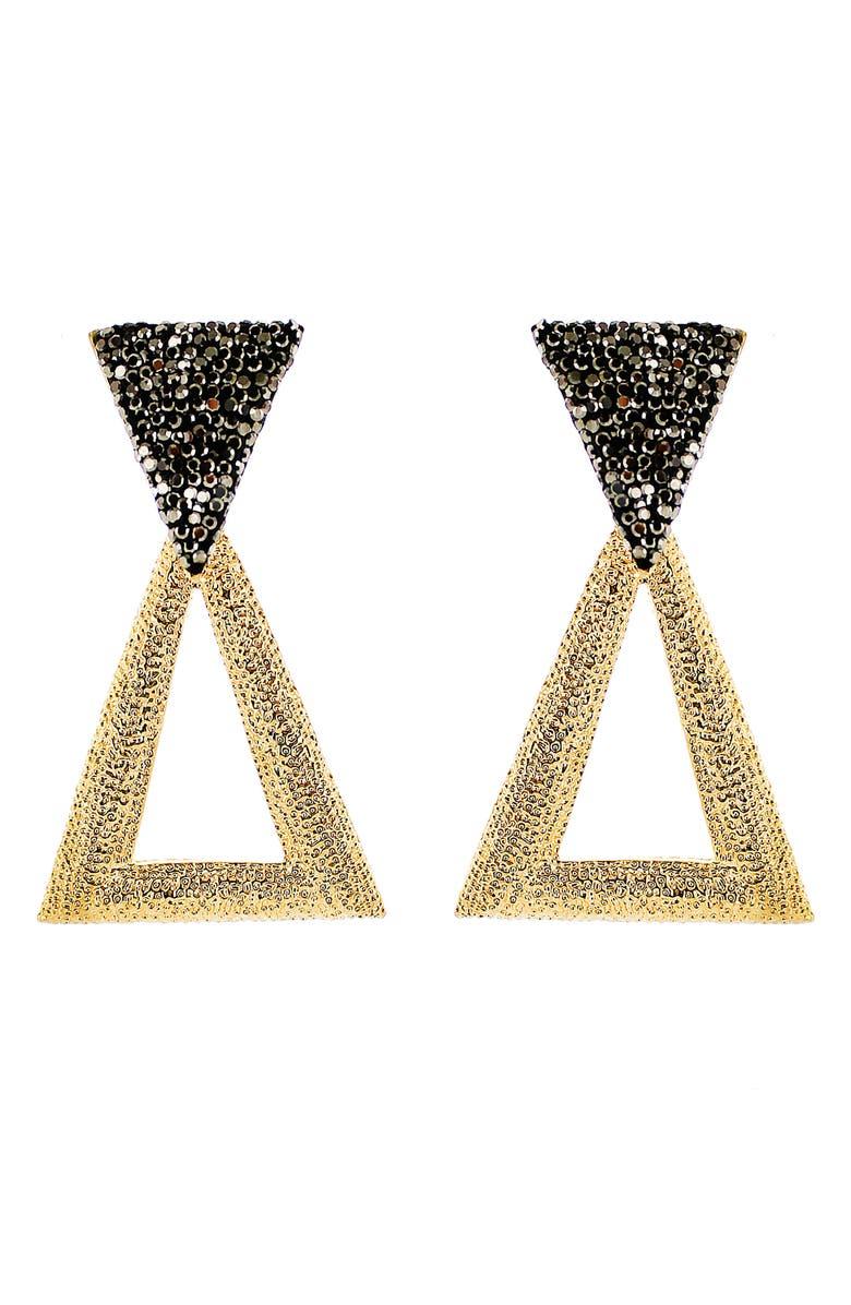 PANACEA Luxe Triangle Drop Earrings, Main, color, 001