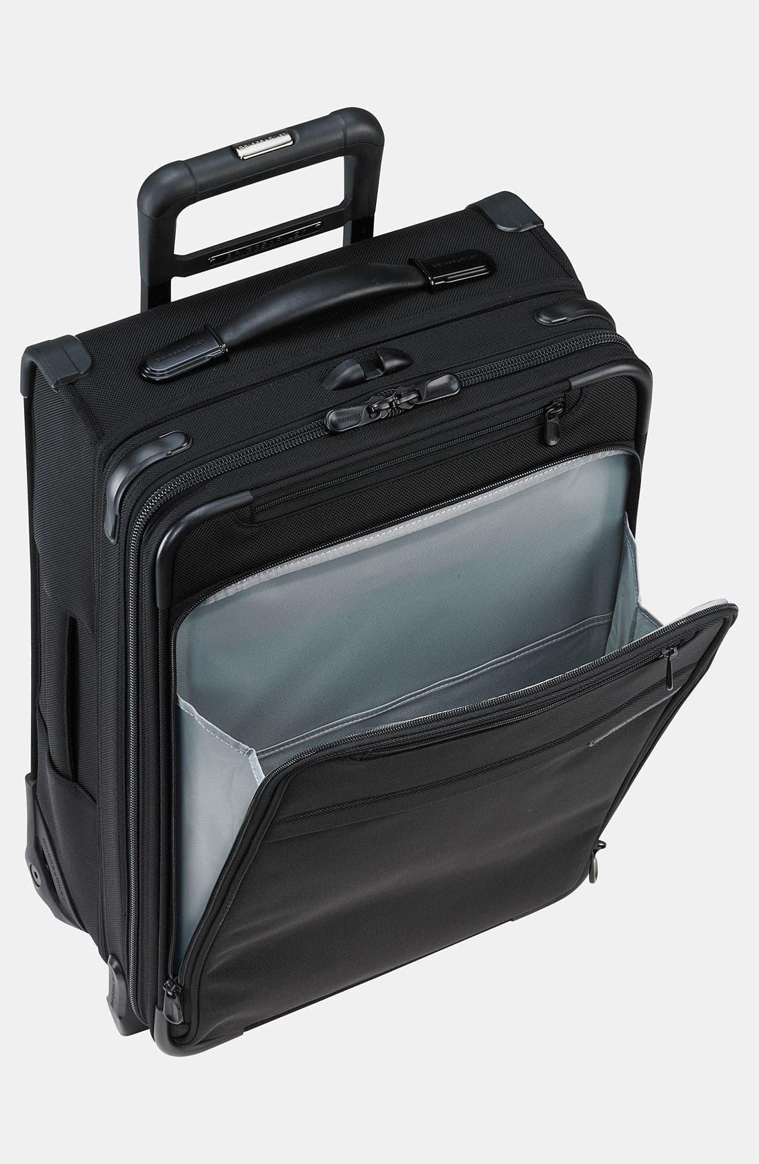 ,                             'Baseline - Domestic' Rolling Carry-On Garment Bag,                             Alternate thumbnail 6, color,                             BLACK