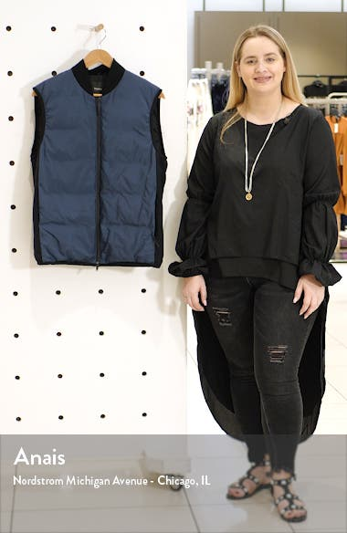 Regular Fit Greene Zip-Up Down Vest, sales video thumbnail
